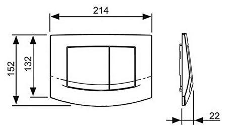 Кнопка смыва TECEambia 9240253 хром