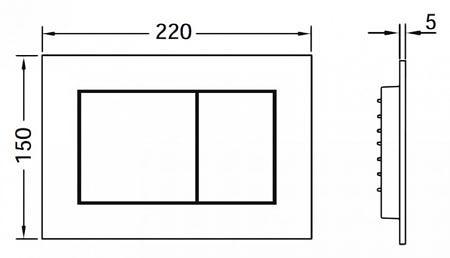 Кнопка смыва TECEnow 9240402