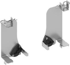 Установочный комплект для унитаза TECE One 9880046  с застенными модулямисухого монтажа со смывным бачком Uni