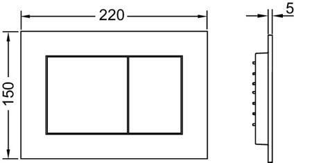 Кнопка смыва TECEnow 9240401