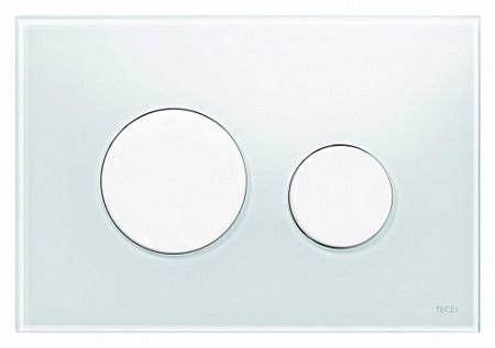 Кнопка смыва TECEloop 9240650 белое стекло