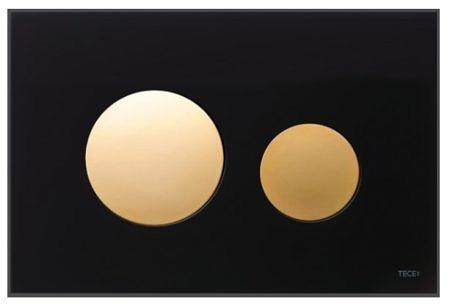 Кнопка смыва TECEloop 9240658 черное стекло