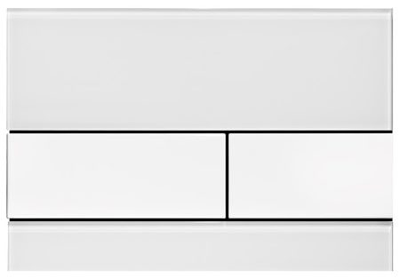 Кнопка смыва TECEsquare 9240800 белое стекло