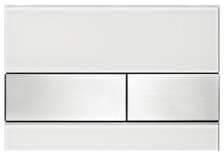 Кнопка смыва TECEsquare 9240801 белое стекло