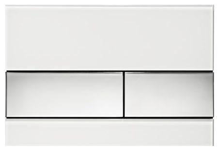 Кнопка смыва TECEsquare 9240802 белое стекло