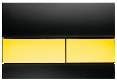 Кнопка смыва TECEsquare 9240808 черное стекло