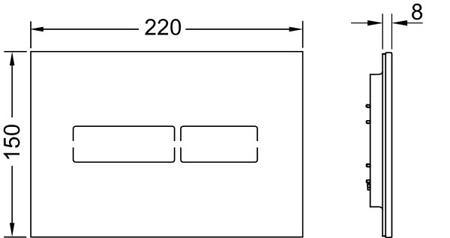Кнопка смыва TECElux Mini 9240960