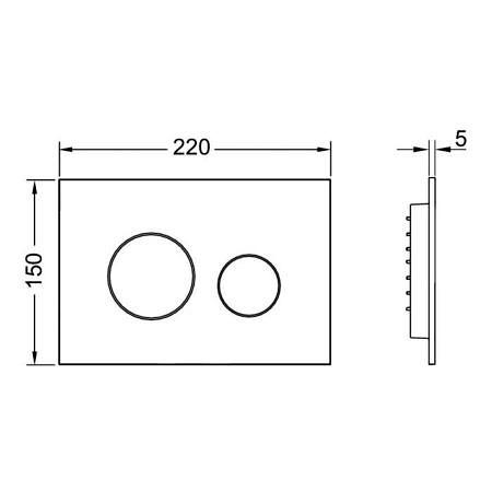 Кнопка смыва TECEloop 9240920