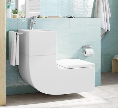 Пример ванной комнаты, собранной из элементов производстdа Roca