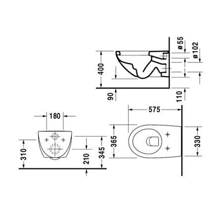 Крышка-сиденье для унитаза Architec с микролифтом Soft Close, петли нерж. сталь Duravit