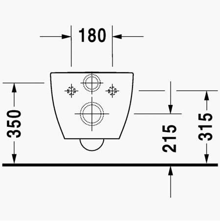 Унитаз подвесной 365x540 мм, Happy D.2 3 Rimless, Duravit