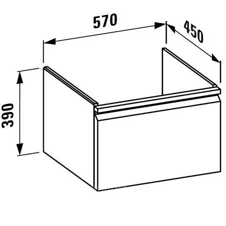 Шкаф под раковину 570х450х390 мм, Pro S, белый матовый, Laufen