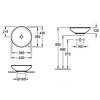 Раковина-чаша на столешницу d 430 мм, Loop&Friends, Villeroy&Boch