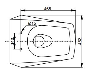 Комплект подвесного унитаза ТОТО Jewelhex 560х452 мм