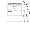 Раковина встраиваемая под столешницу 550х380 мм, Pro S, без отверстия для смесителя, Laufen