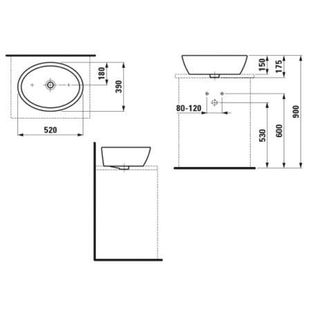 Раковина-чаша 520х390 мм, Pro A, Laufen