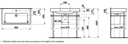 Раковина подвесная 1050х460 мм, Pro S, с отверстием для смесителя, Laufen