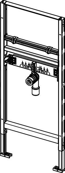 Модуль для раковины, высота 1120 мм, TECEprofil