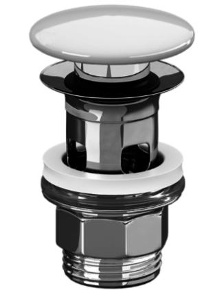 Донный керамический клапан c переливом для раковины, Villeroy&Boch