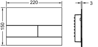 Кнопка смыва TECEsquare II, 9240836