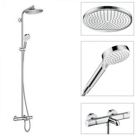 Душевая система для ванны Crometta S 240 Showerpipe с термостатом, Hansgrohe