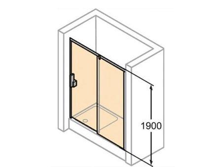 Душевая дверь X1 100х190см, HUPPE