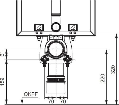 Монтажный комплект для для установки с застенными модулем TECEbox со смывным бачком Uni