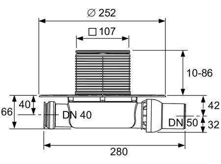 Трап горизонтальный TECEdrainpoint S 112, TECE