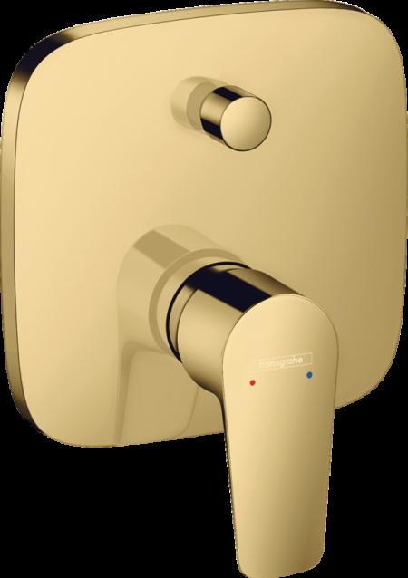 Встраиваемый смеситель для ванны и душа Hansgrohe Talis E золотой