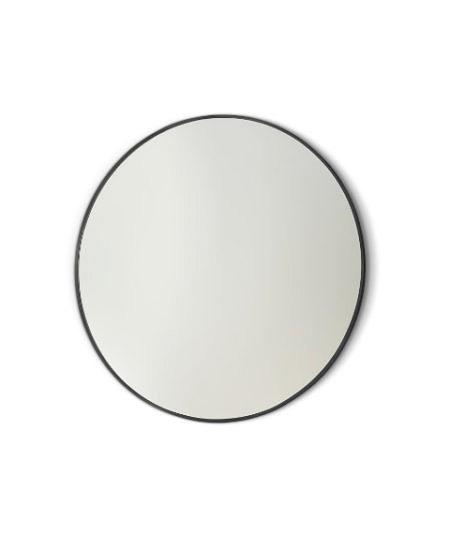 Зеркало подвесное круглое D60 см, чёрная стал.рама Vanita&Casa