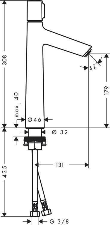 Смеситель для раковины Talis Select S 190, Hansgrohe