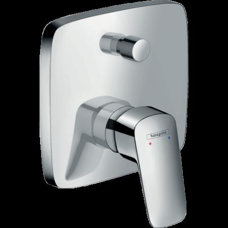 Встраиваемый смеситель для ванны и душа Hansgrohe Logis с переключателем вакуумного типа