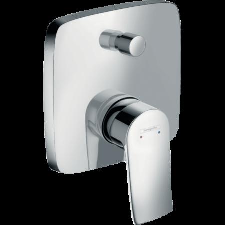 Встраиваемый смеситель для ванны и душа Hansgrohe Metris квадрат
