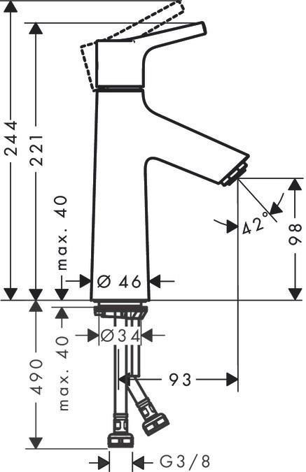 Смеситель для раковины Talis S 100, Hansgrohe