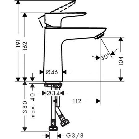 Смеситель для раковины Talis E 110, Hansgrohe
