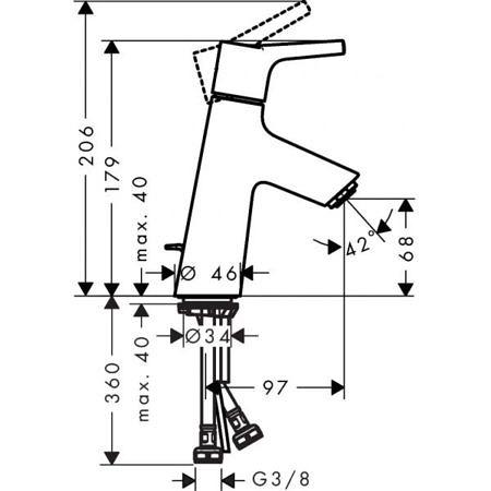 Смеситель для раковины Talis S 80, Hansgrohe