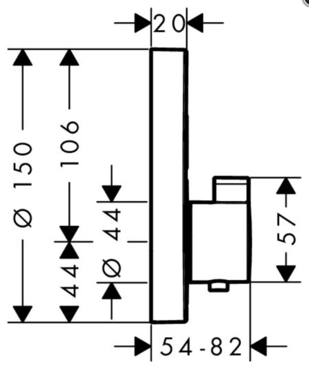 Термостатный ShowerSelect S смеситель для ванны и душа Hansgrohe