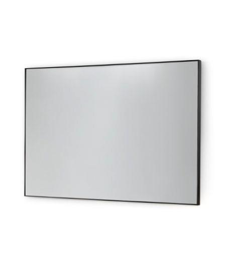 Зеркало без подсветки 800х600мм, чёрная стал.рама Vanita&Casa